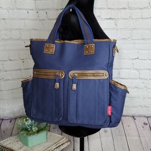 Amy Coe bag, navy clue, lots of storage